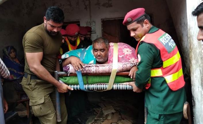 300 kiloluk adam askeri helikopterle taşındı
