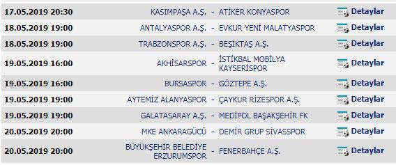 Spor Toto Süper Lig - 33. Hafta