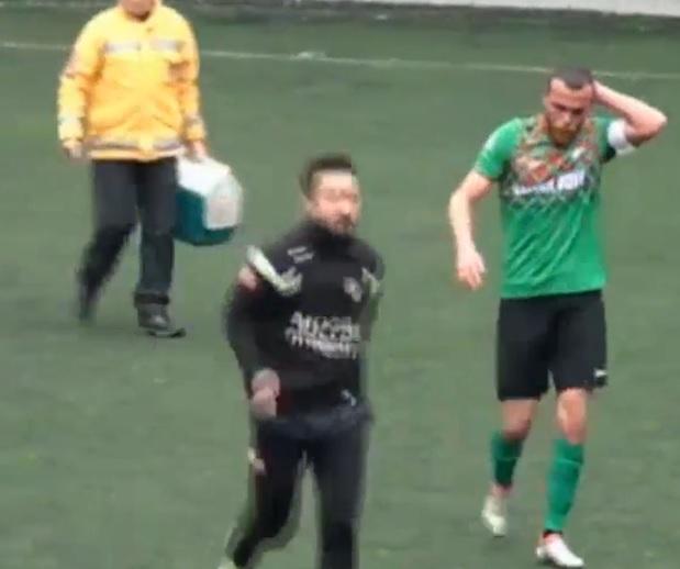 Trabzon'da Amatör maçta korkutan olay!