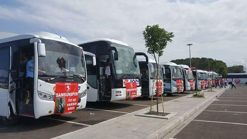 Samsunsporlular Trabzon'a geliyor