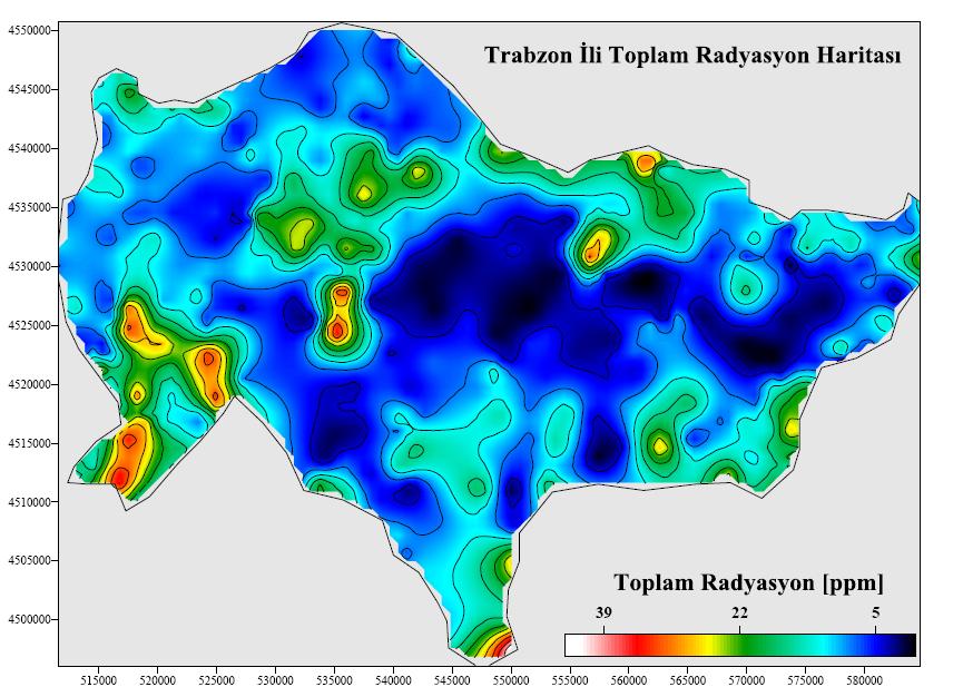 Türkiyenin Doğal Radyoaktivite Zonları ve Çevre Etkileri