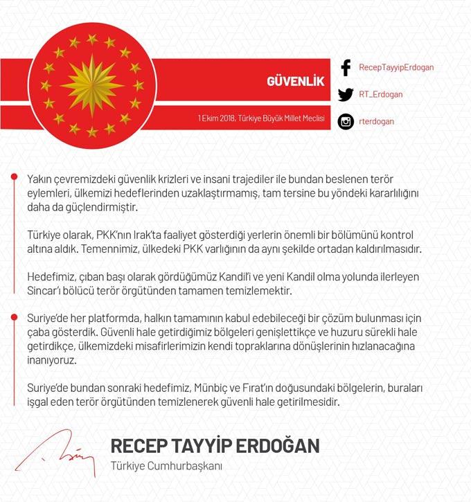 Erdoğan'dan twitter'dan önemli mesajlar