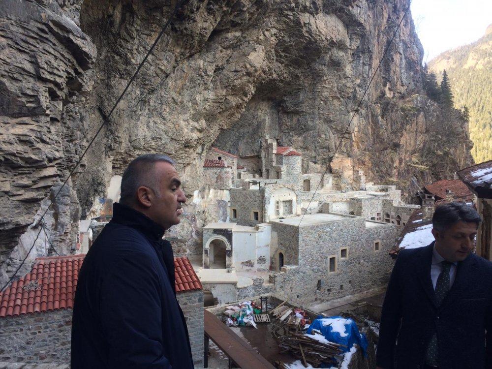 Bakan Ersoy Sümela Manastırı 2. etabın açılış tarihini verdi!