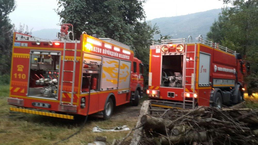 Trabzon'da temizlik için yakılan ateş felaket oluyordu