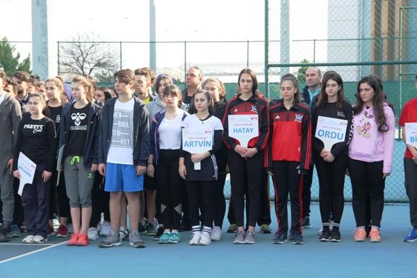 Trabzon'da Kortta büyük heyecan - 26 ilden sporcular katıldı...