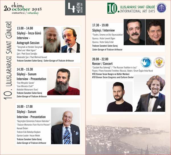 Trabzon'da 10.Uluslararası Sanat Günleri başlıyor