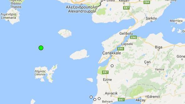 Ege Denizi'nde yine deprem!