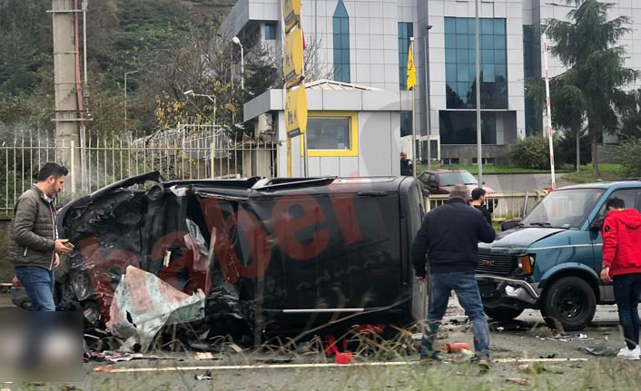 Trabzon'da kaza: Yaralılar var