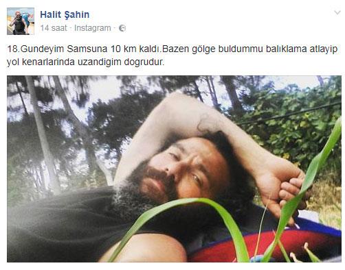 Halit Şahin'in Trabzonspor için Devr-i Adalet yürüyüşü 20. gününde
