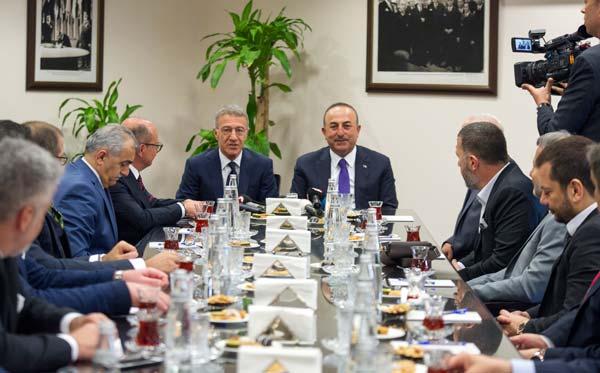 Başkan Ahmet Ağaoğlu'dan Bakan Çavuşoğlu'na ziyaret