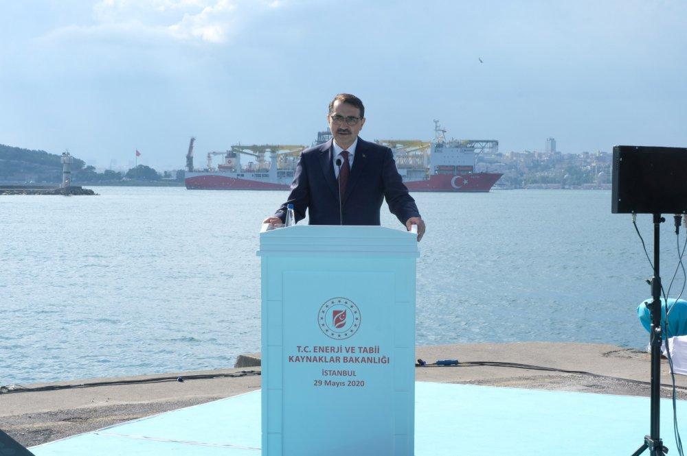 Fatih Sondaj Gemisi Trabzon'a doğru yola çıktı
