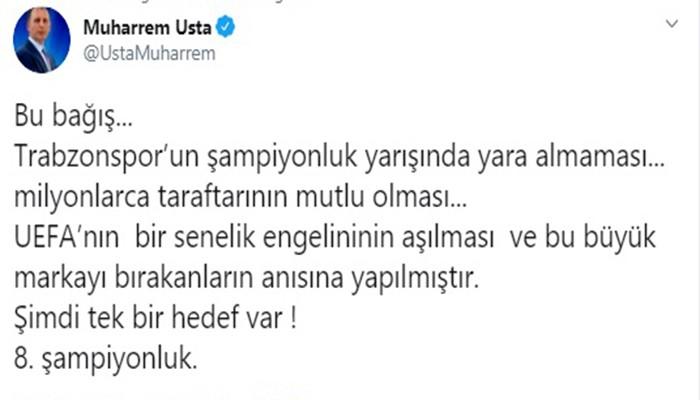 """Muharrem Usta'dan açııklama: """"Tek bir hedef 8. şampiyonluk"""""""