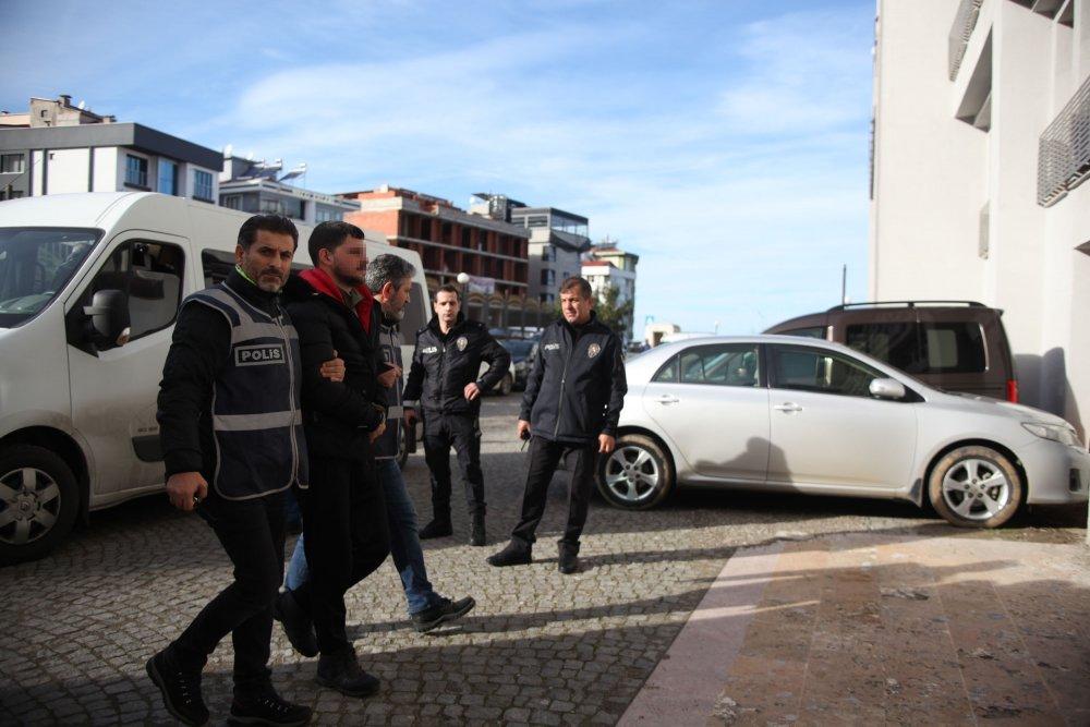 Trabzon'da yakalanan adliyeye sevkedildiler