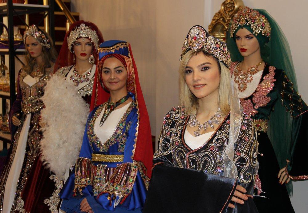Karadeniz usulü kaftanlar yoğun ilgi görüyor
