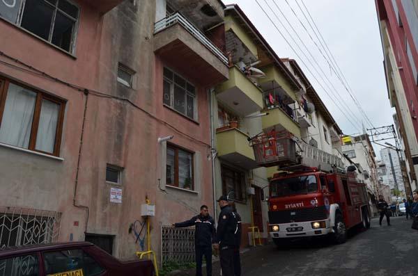 Trabzon'da kediyi kurtarmak için seferber oldular