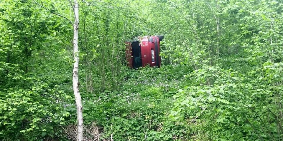 Otomobil fındık bahçesine uçtu - Kaza sabah farkedildi