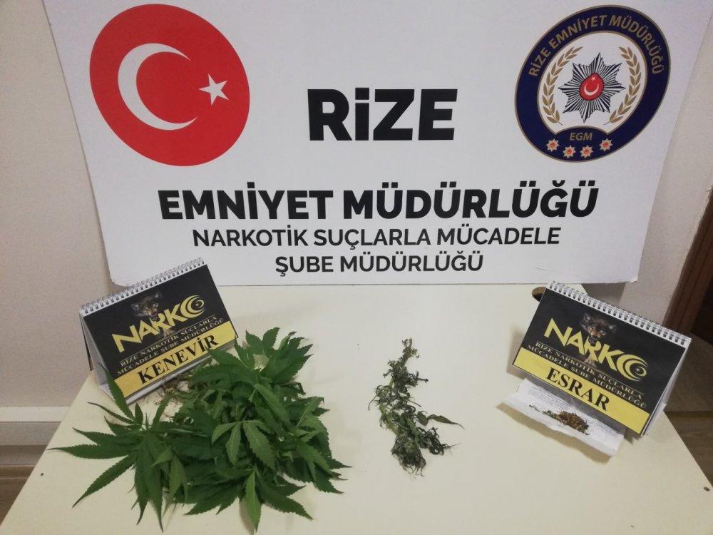 Rize'de uyuşturucu operasyonu - 3 kişi gözaltına alındı