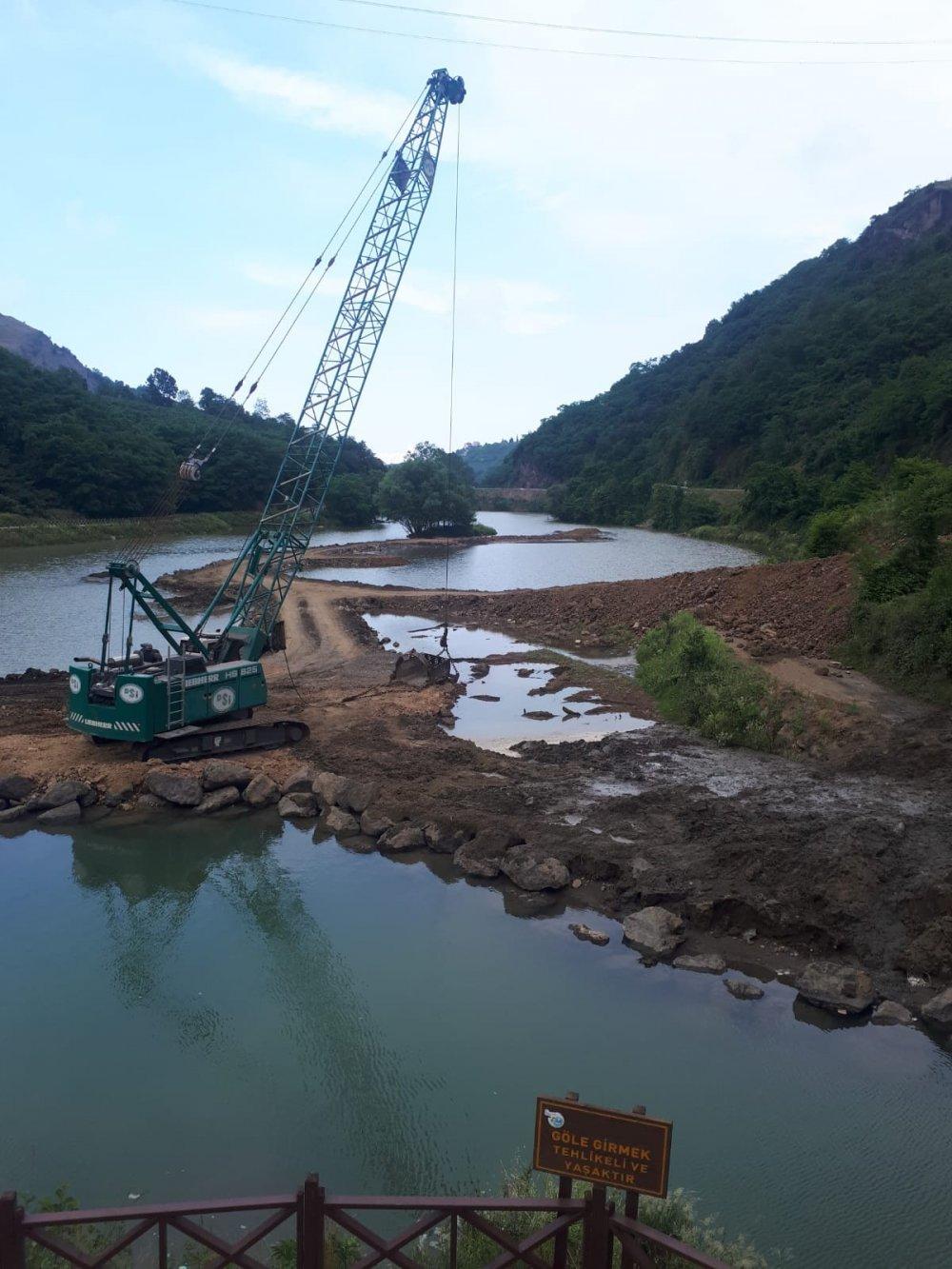 Sera Gölünde çalışmalar sürüyor
