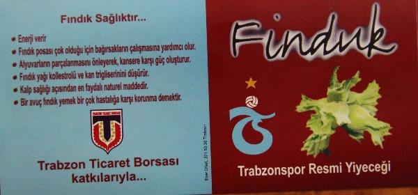 Trabzonspor'un Resmi Yiyeceği 'yeniden' Finduk