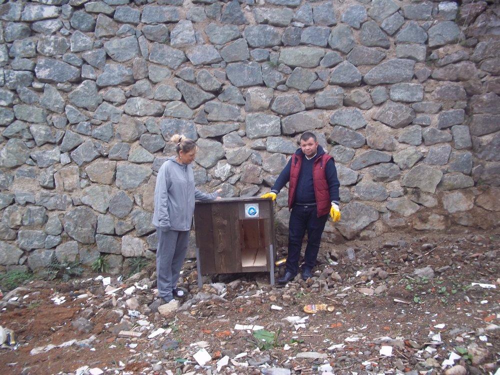 Ortahisar'dan sokak hayvanlarına barınak