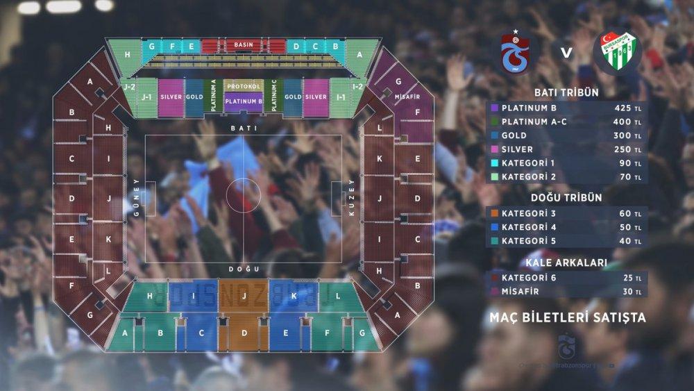 Trabzonspor Bursaspor maçı biletleri satışta