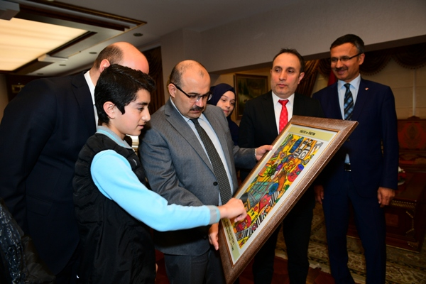 Resim yarışmasının kazananları Trabzon'dan