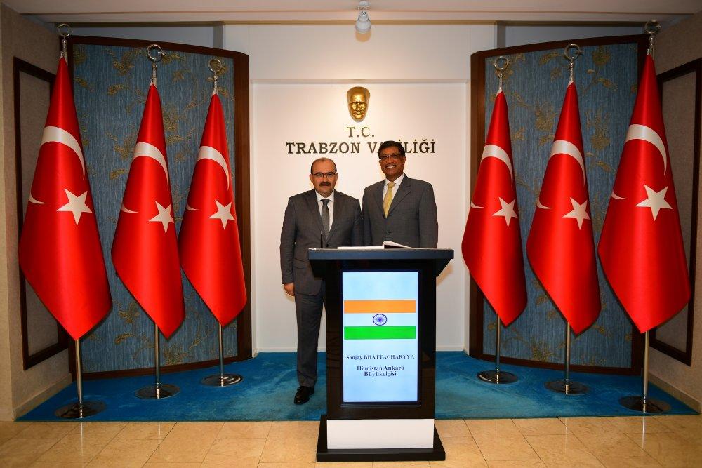 Hindistan Ankara Büyükelçisinden Vali Ustaoğlu'na Ziyaret