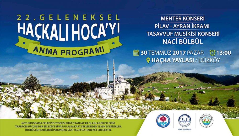 Trabzon'da Haçkalı Hoca anılacak