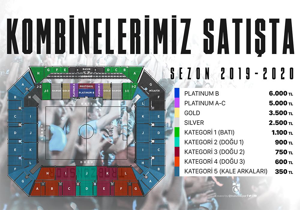 Trabzonspor'da kombineler satışa çıktı!
