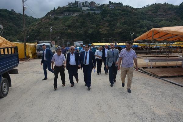Trabzon'da Kurban pazarına inceleme