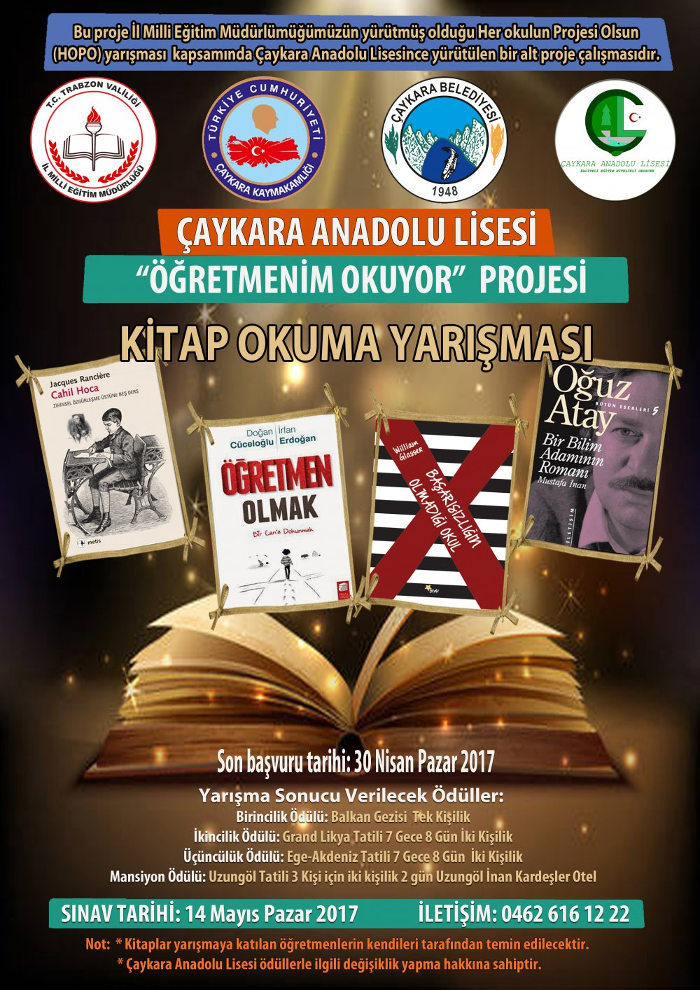 Trabzon'da öğretmenlere özel ödüllü yarışma