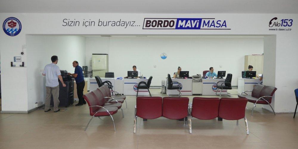 Bordo Mavi Masa'da sınırsız hizmet