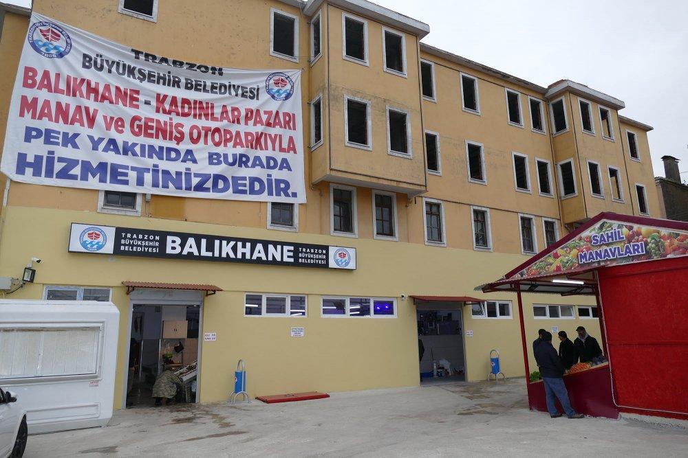 Trabzon'da geçici kadınlar pazarı ve balıkhane oluşturuldu