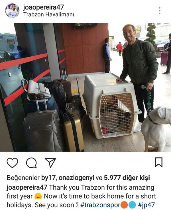 Pereira bavullarını topladı Trabzon'a teşekkür etti