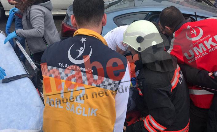 Trabzon'da kaza! Önce midibüse sonra otobüse çarptı: 1 yaralı
