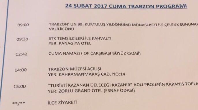 Süleyman Soylu'nun Trabzon programı