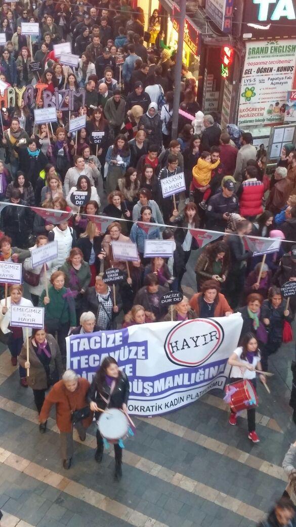 Trabzon'da kadınlar yürüdü