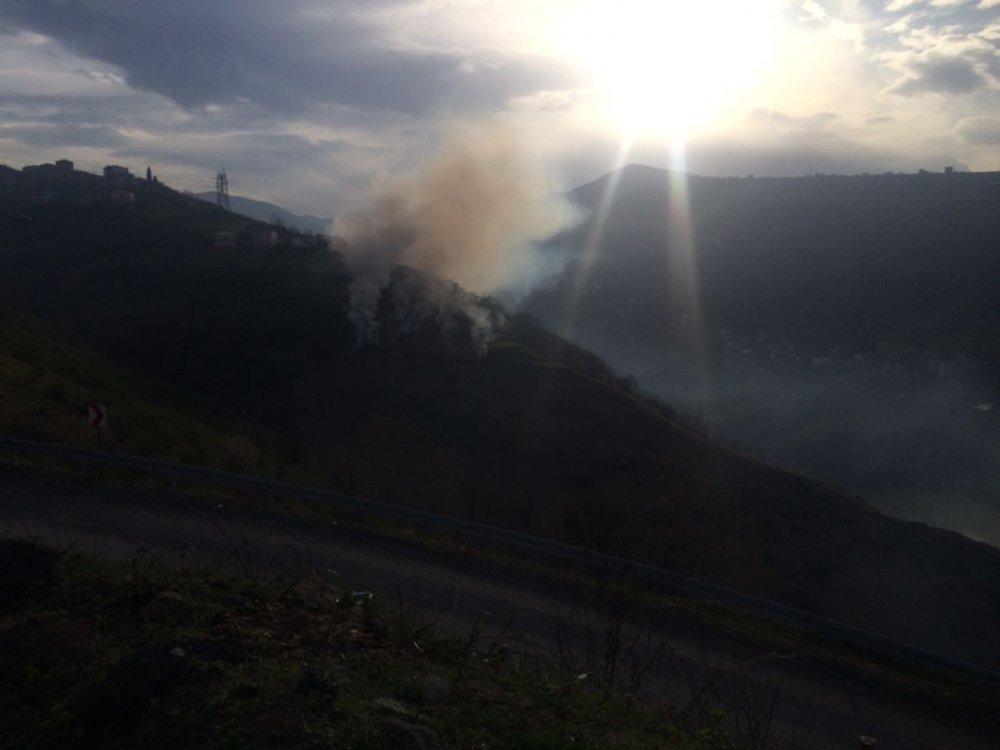Trabzon Yıldızlı'da yangın paniği