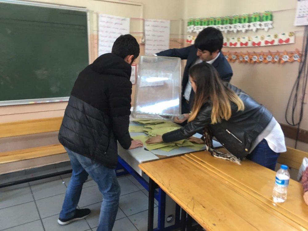 Trabzon'da oy verme işlemi bitti! Oy sayımı başladı