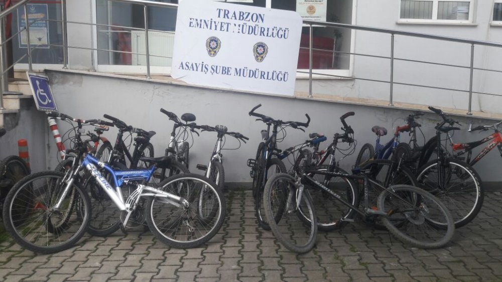 Trabzon'da bisiklet hırsızları yakalandı