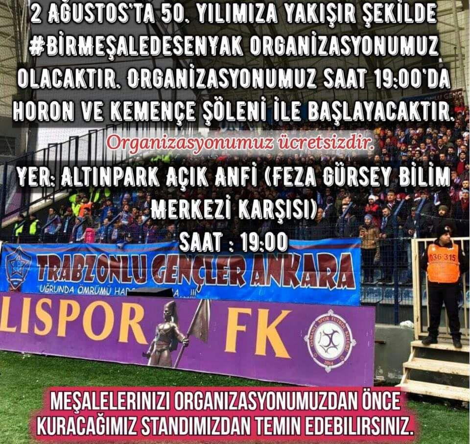 Ankara'da Trabzonspor'un 50. Yılı kutlanacak