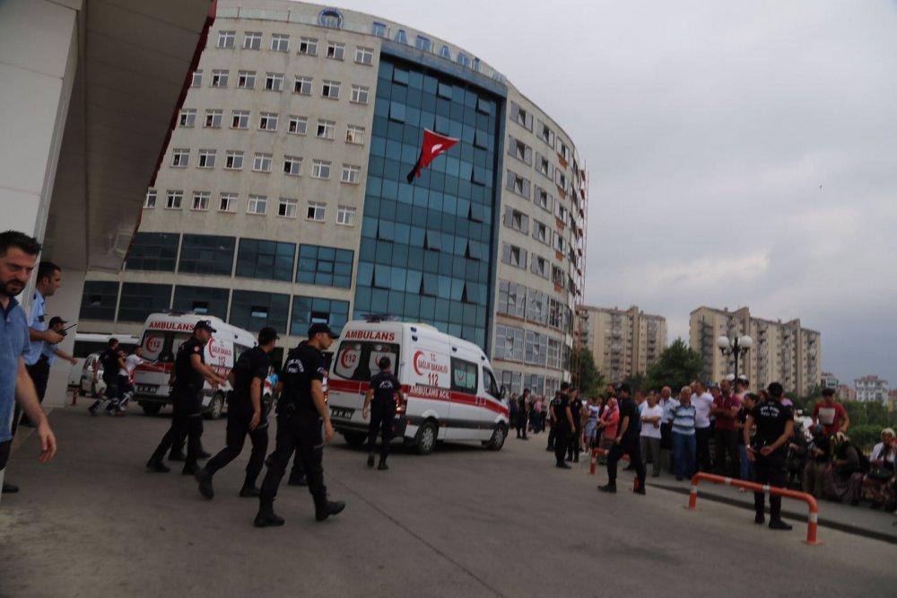 Trabzon Maçka yaralıları getirildi