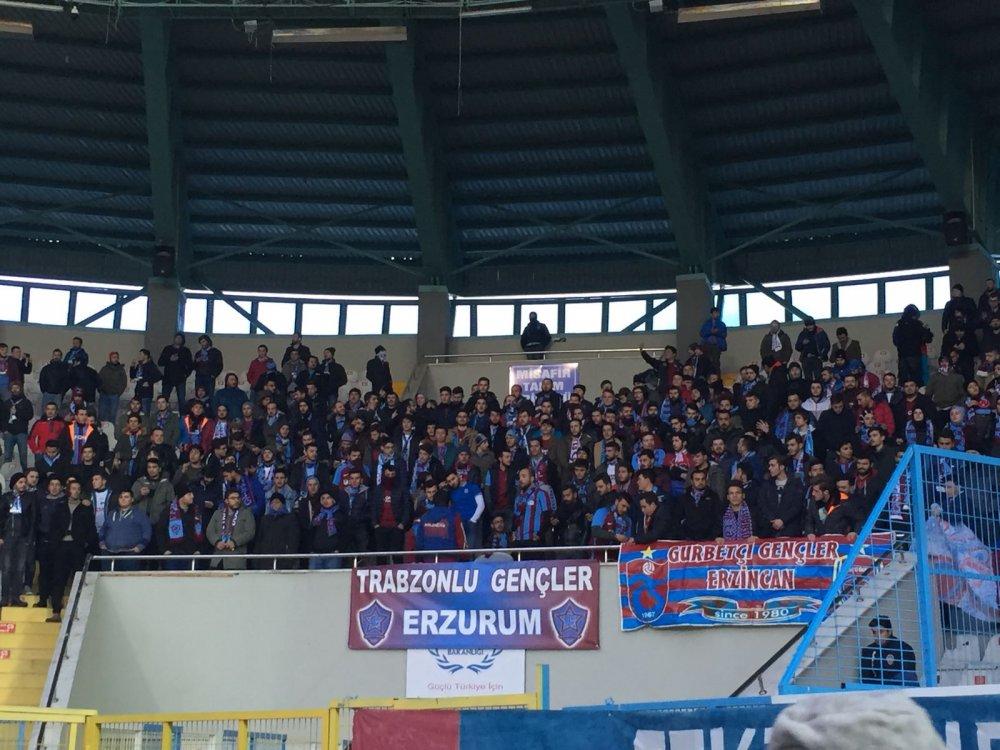 Trabzonspor taraftarıı yalnız bırakmadı