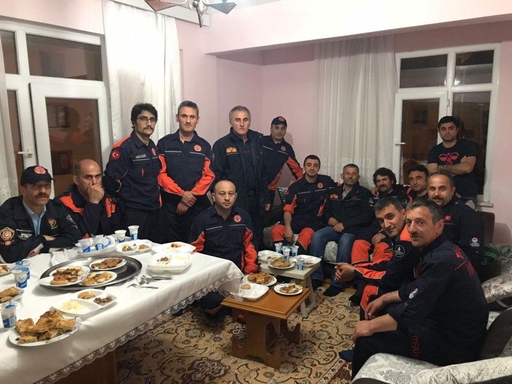 Meslektaşları, şehit itfaiyeci Taner Çebi için Trabzon'da