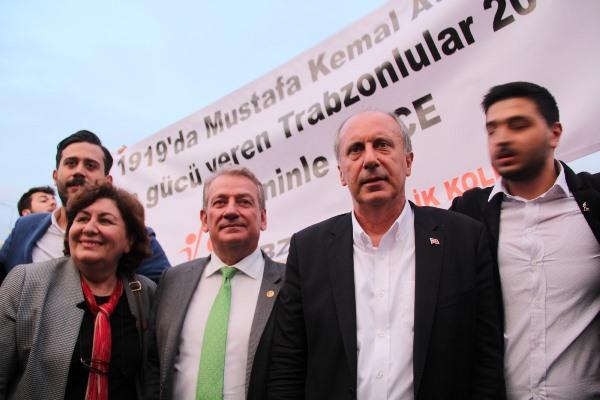 Muharrem İnce Trabzon'a geldi, şehit evine uğradı