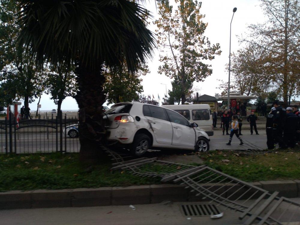 Trabzon'da kaza - Refüje çıktı