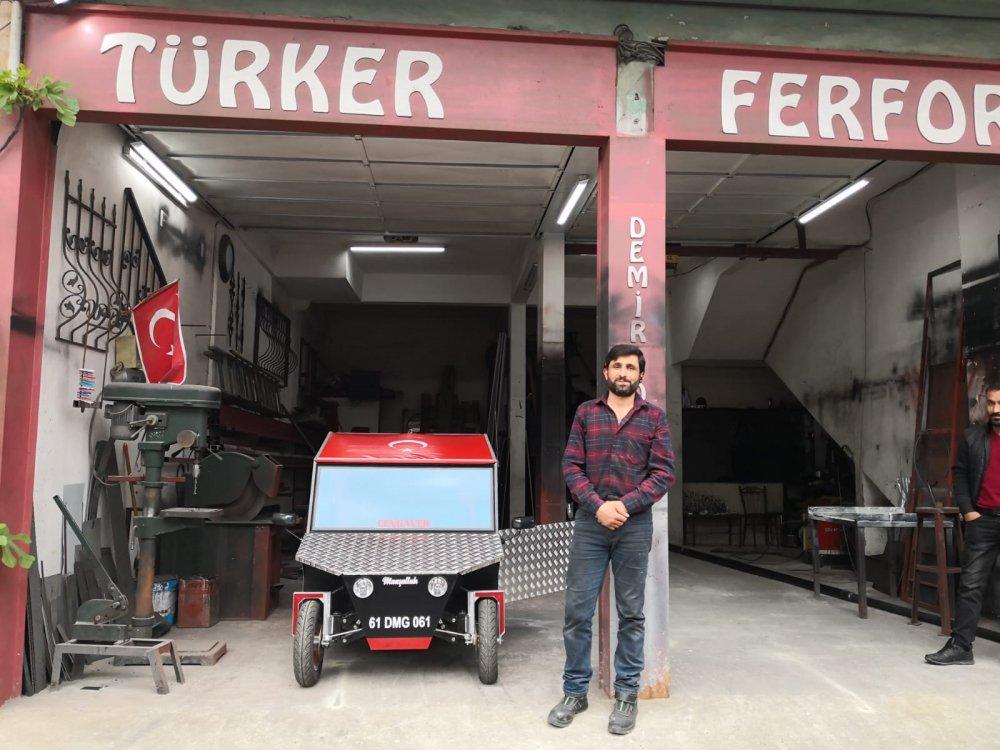 Trabzonlu zekası iş başında - Demirci ustası 22 günde Cengaver'i üretti
