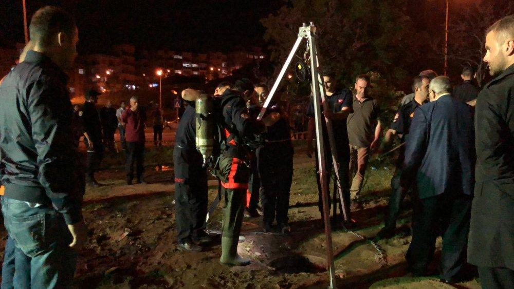 Trabzon'da Kanalizasyona düşen işçi aranıyor