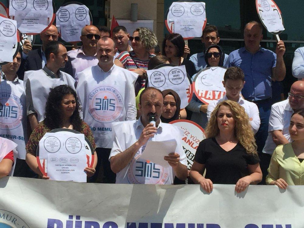 Trabzon'da adliye personelinden Yargı Reformu Paketi'ne tepki