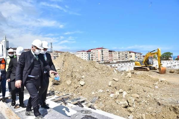 Trabzon'da Millet Bahçesinde son durum